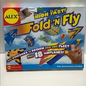 New Alex Toys Fold' n Fly Paper Airplane Kit
